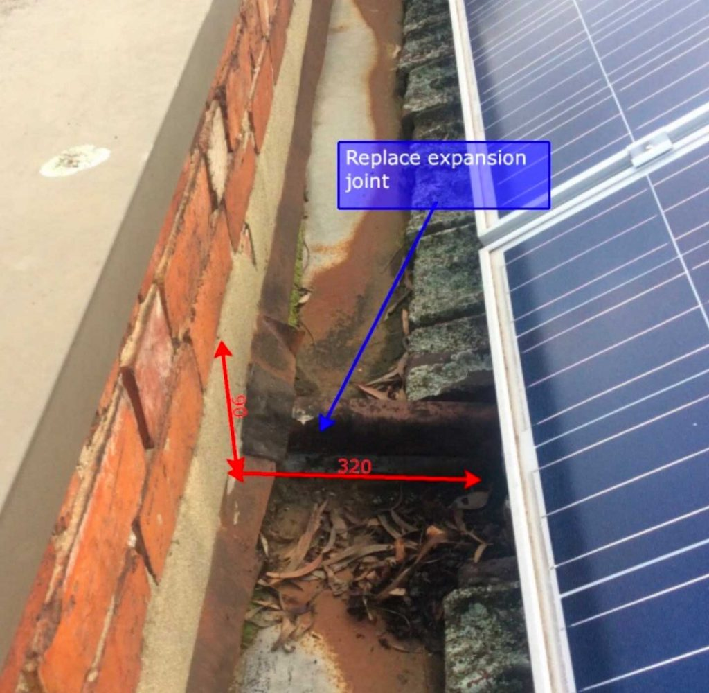 Box Gutter Leaks on Commercial Buildings | Before Expansion Joint Replaced | Roofrite | West Melbourne